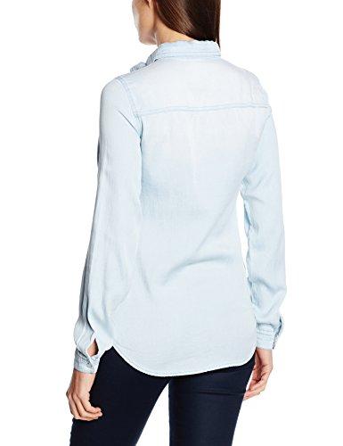 Vila Damen Hemd Vibista Denim Shirt-noos Blau (Light Blue Denim Light Blue Denim)