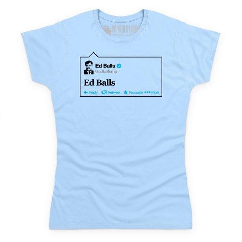 Balls Tweet T-Shirt, Damen Himmelblau