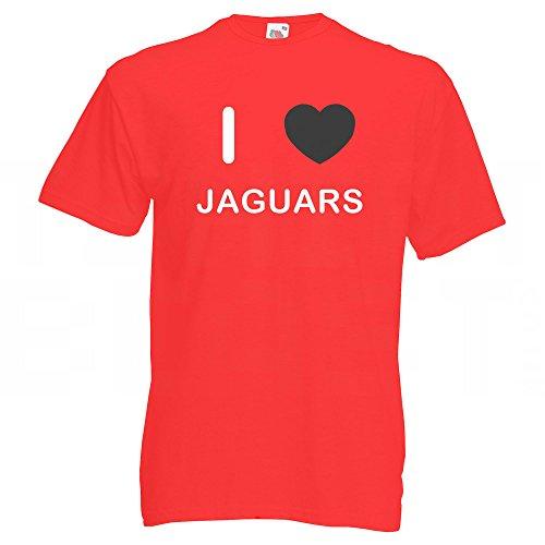 I Love Jaguars - T-Shirt Rot