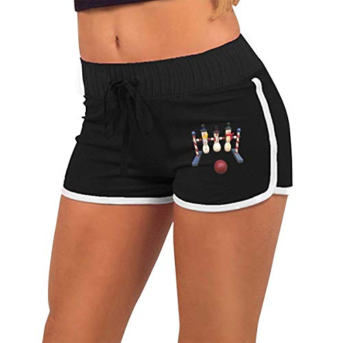Bowling Women's Sexy Shorts Fashion Beach Hot Shorts XXL (Hot Biker Kostüm)