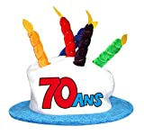 SURPRISE RF-CHA08-1 Chapeau Anniversaire 70ans- Cadeau Adulte fête