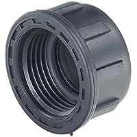 """Rc Junter M 348010 Tapón con Junta 1"""" para colectores de riego, Negro, 4.0x4.0x2.5 cm"""