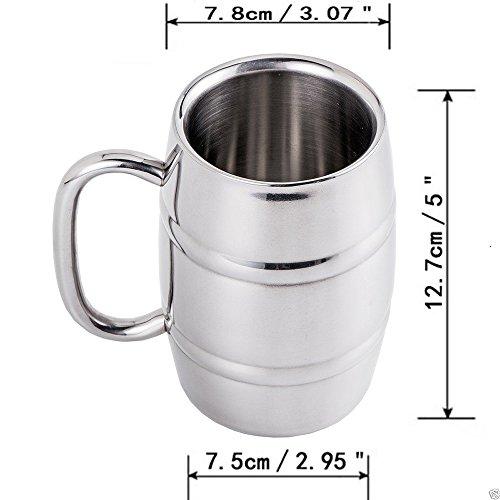 Jarra de cerveza isenretail acero inoxidable taza de t for Capacidad taza cafe con leche