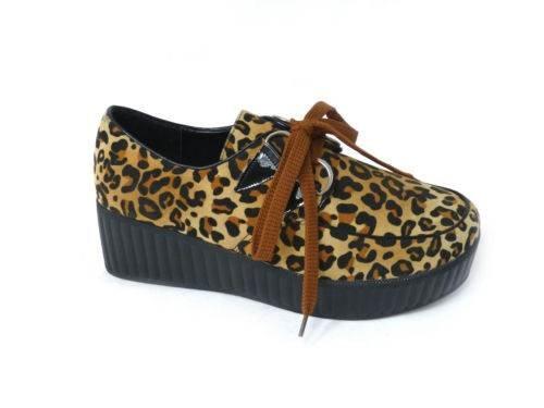 SKO'S , Chaussures bateau pour femme Leopard (8919-2a)