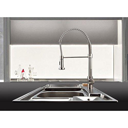 TIMACO Wasserhahn Küche Einhandmischer Federbrause - 8