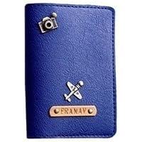 I Love Fashion Dark Blue colour Personalised Passport cover