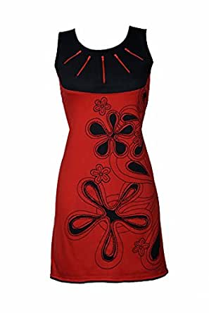 Luftiges Sommer Kleid mit Floral Patchwork Print und spielerischen Details - IMMA (S/M)
