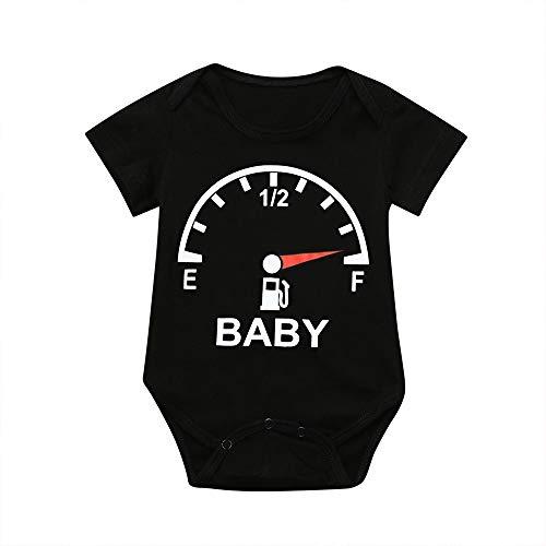 leinkind-Baby-Kurzarm-Uhren drucken Romper Tops passende Familienkleidung Eltern-Kind-Kleidung ()