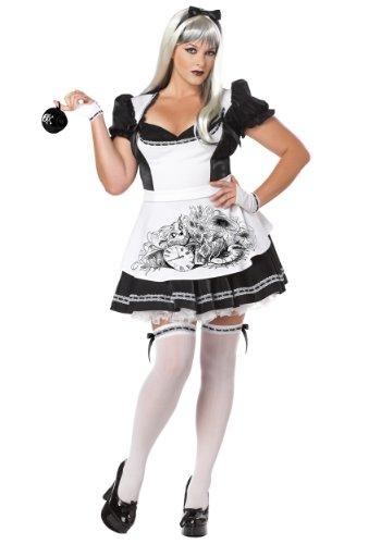 Dark Alice Halloween Costume (Plus Size) - Dress 20 to (Plus Halloween Size Kostüme Children's)