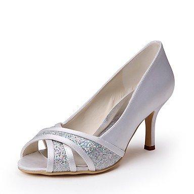 Wuyulunbi @ Femmes Chaussures Paillette Soie Spring Summer Chaussures De  Base Mariage Talon Aiguille Peep Toe