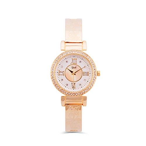 Yaki Damen-Armbanduhr Gold Luxus Uhren Frauen Uhrenmarken Analog Quarz Uhren mit Strass