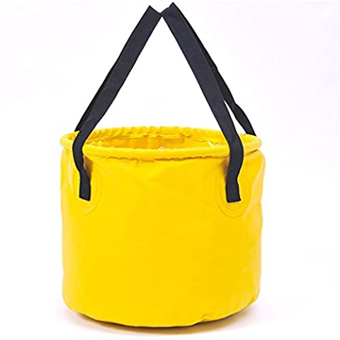 Holzsammlung® 10L Foldable Bucket Collapsible Water Carrier Container Bag For Camping, Hiking, Travel