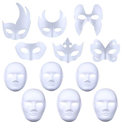 alloween Maske Blank Malerei DIY Verschiedene Arten Party Maske für Kinder ()