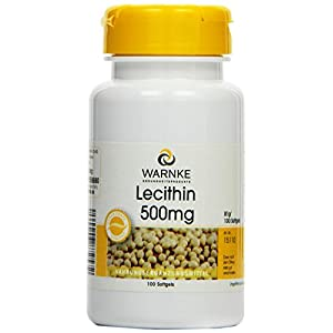 Warnke Gesundheitsprodukte Lecithin 500mg (aus Soja, ohne gentechnik) 100 Softgels