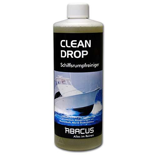ABACUS CLEAN Drop 1000 ml (2428) - Schiffsrumpfreiniger GFK-Reiniger Gelcoat-Reiniger Wasserpass-Reiniger Bootsreiniger Rumpfreinger Muschelkalk Rost Oxidschichten und Vergilbungs-Entferner -