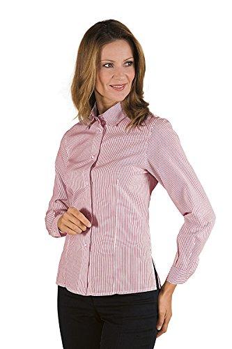 Robinson Damen Bluse KYOTO bordeaux gestreift Blanc Ray Gris