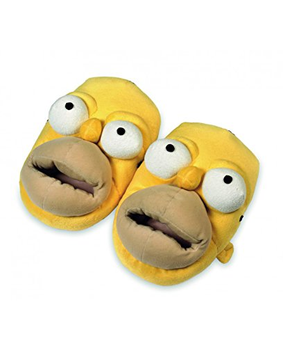 Simpsons Les Homer Chaussons Standard XL - Jaune - Jaune,