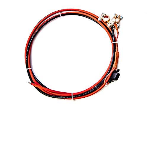 WATTSTUNDE Batteriekabel mit Sicherung und Polklemme - Solar Akku zu Laderegler 1,5m (6mm² 30A) -