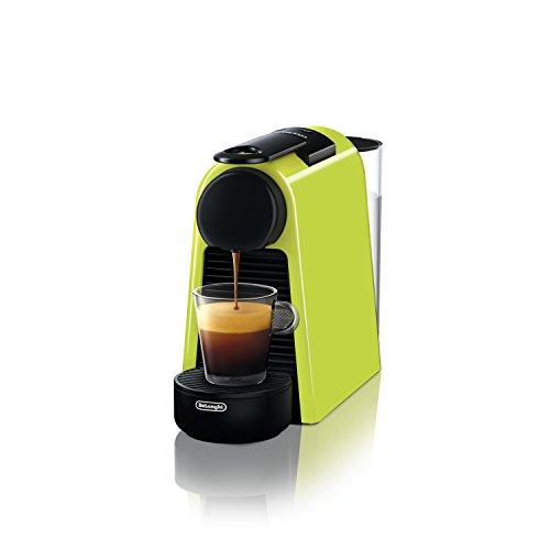De'Longhi Nespresso Essenza Mini EN 85.L - Cafetera de cápsulas compacta, 19 bares de presión, color lima