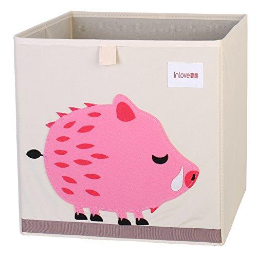 Cartoon Aufbewahrungswürfel Leinwand faltbare Spielzeug Aufbewahrungsbox für Kinder von ELLEMOI (Eber)