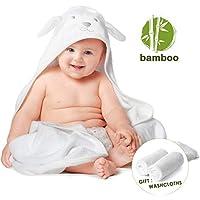 Toalla con capucha para bebés de bambú orgánico con juego de toallitas extra, Toallas de
