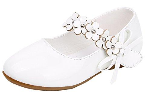 Y-BOA Chaussures Ville Baptême Enfant Fille Princesse Ballerine Floral Nœud Papillon Souple