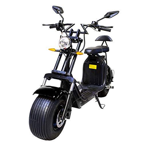 Moto eléctrica CityCoco. Potencia 2000W/18.2aH (Doble Batería). Modelo Negro/Negro. Version XI