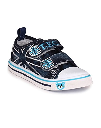 Good Quality Daily Casual Party Wear Cartoon Print Navy Blue Sport Shoes For Kids Boys And Girls By Trilokani Footwear Co.