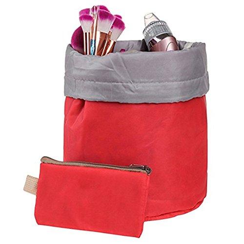 Trousse cosmétique de voyage maquillage Sac de rangement Essential avec petite Poche à fermeture Éclair et Transparant PVC Pouch