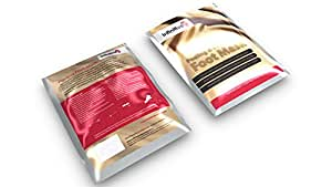 2 x Pairs Of Exfoliating Foot Mask Peeling Feet Masks Pair, Exfoliator, Exfoliater, Exfoliating Scrub, Whitening and Moisturiser, Clear Foot Odour, Remove Hard Dead Skin, Soft Feet, Cleanser, 7 Days Effective