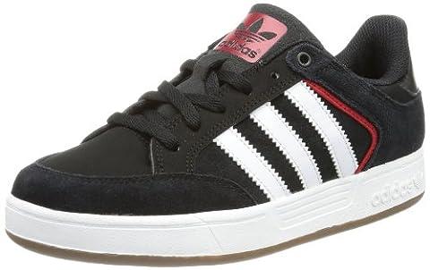 adidas Originals VARIAL J Q33257, Jungen Sneaker, Schwarz (Black/University Red/Running White), EU