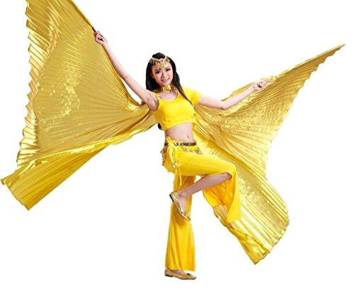 New Arrival Gold Handgefertigt Öffnung Bauchtanz Kostüm isis Big Flügel, modisches Dance ()