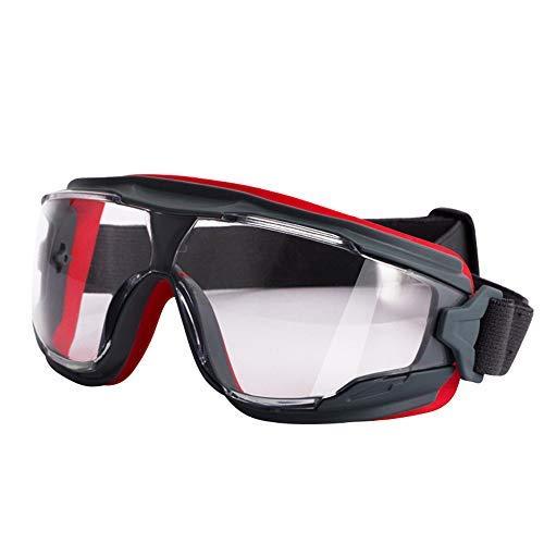 Haoda Radbrille Sportbrille Schutzbrille G Schutzbrille Anti-Fog-Schutzbrille Universal Outdoor Anti-Sand Wind Reiten Klettern Klare Linse Arbeitsschutzbrille polarisierte Linse -