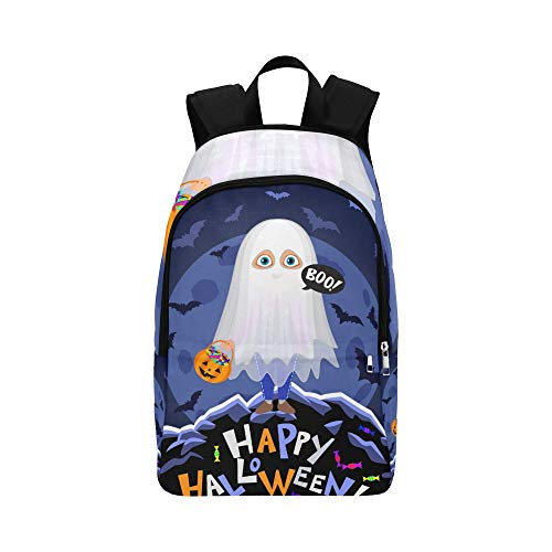 Happy Halloween Boy Halloween-Kostüm auf lässig Daypack Reisetasche College School Rucksack für Männer und Frauen