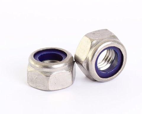 Bolt Base 5mm A2 Stainless Steel Nylon Insert Nyloc Nylock