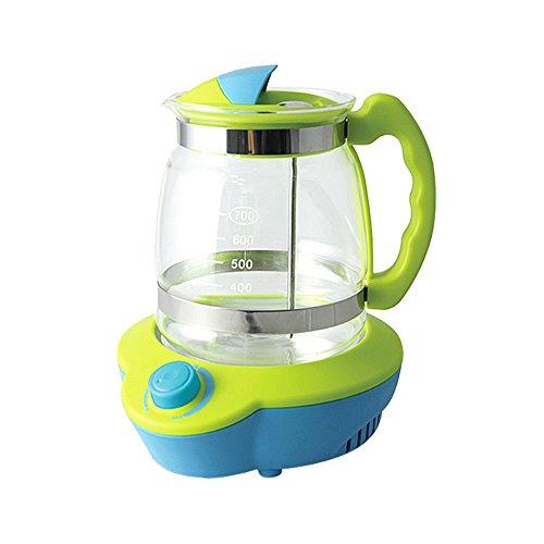 QFFL Schäumende Maschine thermostatischer Milchspender 700ml Baby-Milchpulver-Maschinen-Blasen-Milch-Hitze-Kessel-Grün 18.2 * 16.3cm Hand pumpe (Elektrische Hitze-kit)