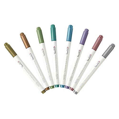 Docrafts Brush Marker Fluid Metallic, verschiedene Farben (8Stück) - 7