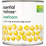 Naturalmente Dulce 326G Esencial Maíz Dulce Waitrose - Paquete de 6