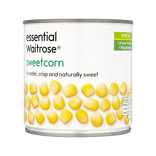 Essentielle Naturellement Doux Sweetcorn Waitrose 326G