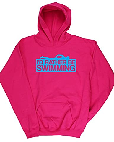 HippoWarehouse I'd Rather Be Swimming kids unisex Hoodie hooded