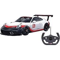 Jamara 405153 - Porsche 911 GT3 Cup 1:14 weiß 27MHz - RC Auto, offiziell lizenziert, ca 1 Std fahren, 9 Km/h, perfekt nachgebildete Details, detaillierter Innenraum, hochwertige Verarbeitung,LED Licht