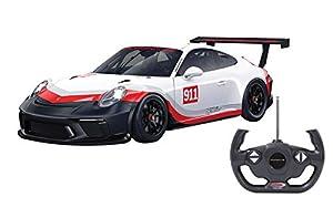 Jamara 405153-Porsche 911 GT3 Cup 1:14 Licencia Oficial Coche de Radio Control Color Blanco 405153