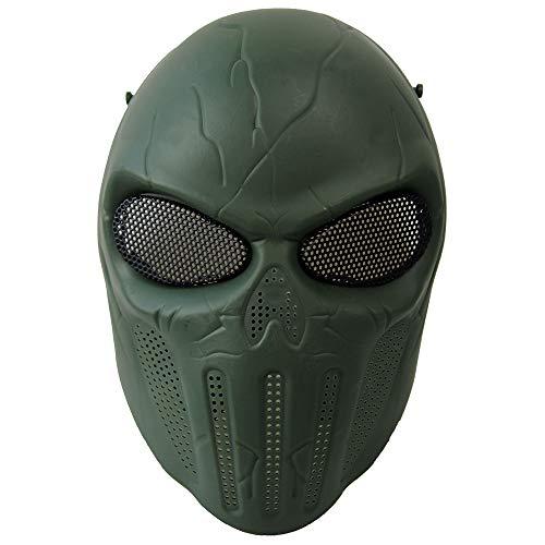 KINGEE®Máscara De Airsoft De Cráneo De Cara Completa, Equipo De Protección De...