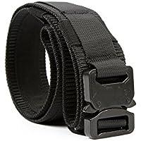 Yisibo cinghia tattica Heavy Duty di sicurezza esterna Utility Duty Cintura con Molle sistema militare di stile di nylon fibbia in metallo 1.5 '' Cinture Nero XL