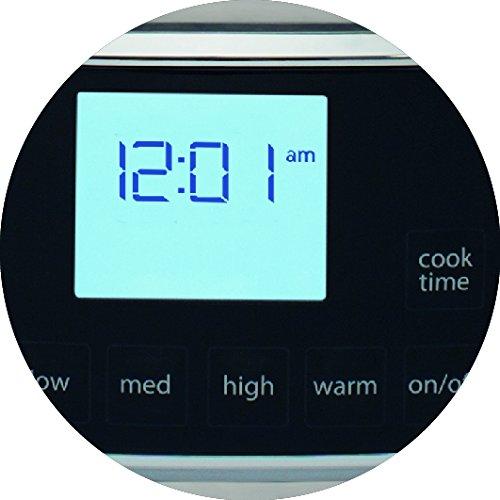 Electrolux ESC7400 Olla de cocción lenta con display digital y 6,8 l de capacidad, 235 W, 6.8 litros, Gris