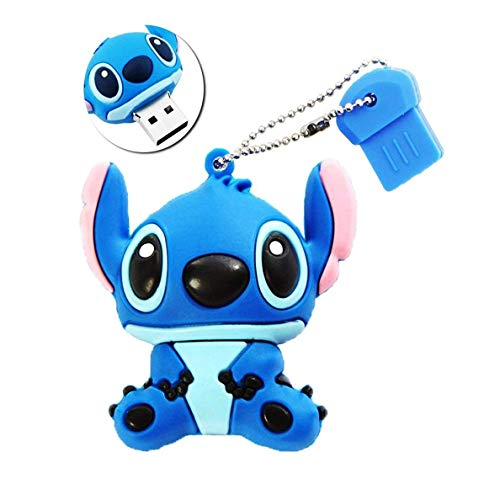 Preisvergleich Produktbild Speicherstick 16GB USB 2.0 Stick High Speed Silikon Niedliche Cartoon-Figur Stitch Flash-Memory Stick Pen Drive