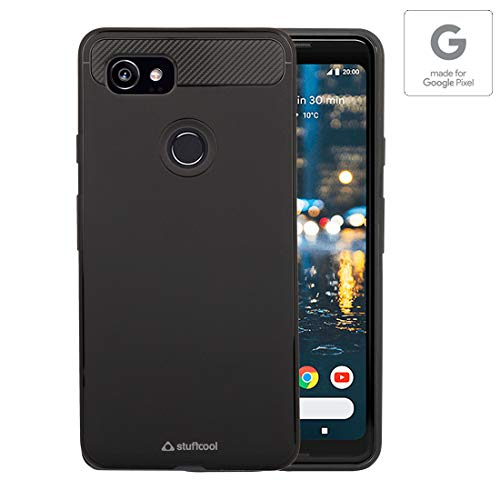 Stuffcool Soft Flexible TPU Armour Back Case Cover for Google Pixel 2 XL