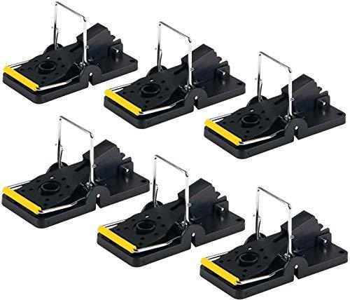 ASPECTEK HR2901 Trampa para ratón, Reutilizable y fácil de Usar, 6 Unidades, L, Set de 6 Piezas