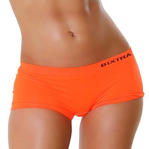 Unbekannt Panty Hotpants Pants Hipster Print Handabdrücke Größen 38-40 - Ornage