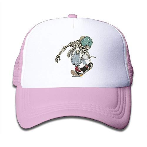 c47ea61c680 Vidmkeo Skull Skateboard Child Baseball Caps Adjustable Mesh Trucker Hats